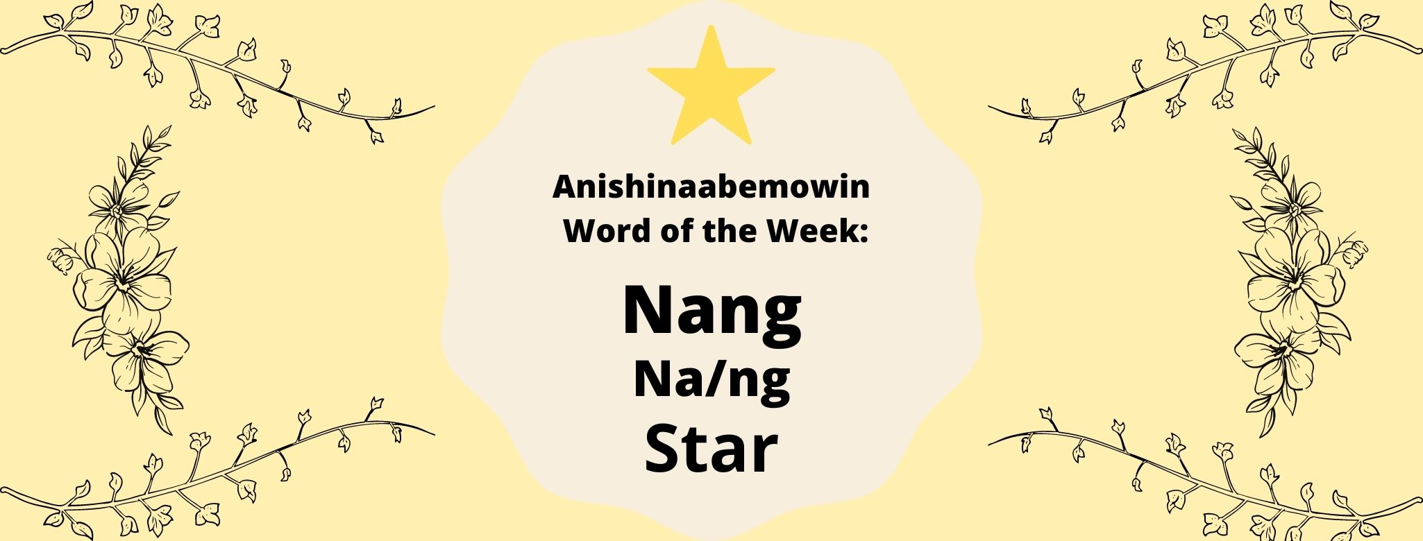 Anishinaabemowin Word of the Week Nang Nang Star
