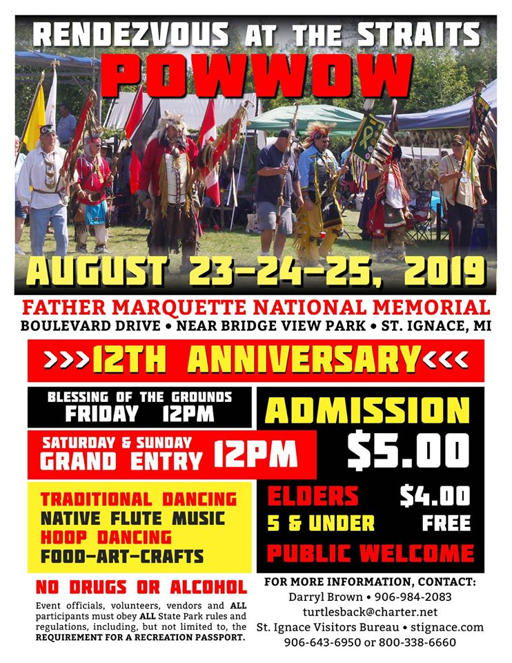 Rendezvous at the Straits Powwow Flyer